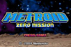 Metroid - Zero Mission - title - User Screenshot