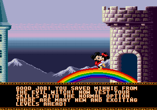 Castle of Illusion Starring Mickey Mouse - Having a dance on rainbow!! - User Screenshot