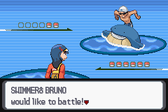 Pokemon Light Platinum - Battle  - Awesome sprite edit, matches Trainer Sprite. - User Screenshot