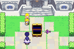 The Legend of Zelda - The Minish Cap - Cut-Scene  - Bobu trying to protect zelda(named link that) - User Screenshot