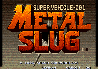 Metal Slug - Super Vehicle-001 - Run & Gun / 1996 - User Screenshot