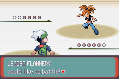 Pokemon Emerald - Battle  - ooo a cute gym leader - User Screenshot
