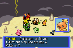 Pokemon Mystery Dungeon - Red Rescue Team - Cut-Scene  - well i guess its true about arceus - User Screenshot