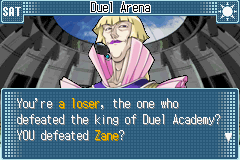 Yu-Gi-Oh! GX - Duel Academy - Cut-Scene  - I HAVE A NAME YOU KNOW BLONDIE. - User Screenshot