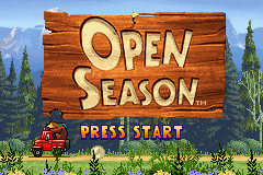 Open Season - Menus Open season - Open season tm (GBA) Game Boy Advence. - User Screenshot