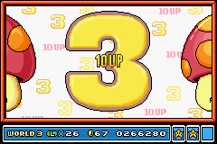 Super Mario Advance 4 - Super Mario Bros. 3 - Mini-Game  - 10 UP  WOO HOO! XD - User Screenshot