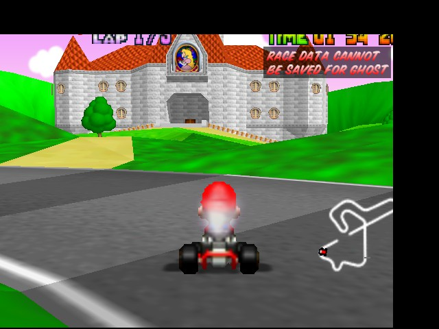 Mario Kart 64 - Level Royal Raceway - Peach