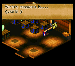 Super Mario RPG - Legend of the Seven Stars - Misc Password:pearls - This is the password for the room  - User Screenshot