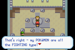 Pokemon - Yet Another Fire Red Hack - Level  - BROCK FIGHTING TYPE - User Screenshot