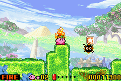 Kirby - Nightmare in Dream Land - Level Leve;2 - thie is level 2-1 - User Screenshot