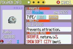 Pokemon Ruby Destiny Reign of Legends - Character Profile  - Yes, a shiny :D - User Screenshot
