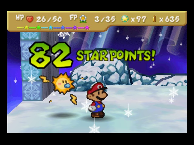 Paper Mario - Battle  - Owww yeah! - User Screenshot