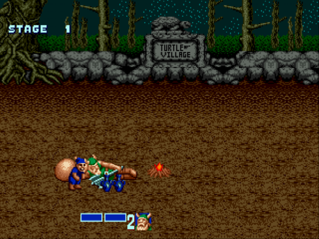 Golden Axe - Mini-Game  - Thief takes your bottles, get them back - User Screenshot