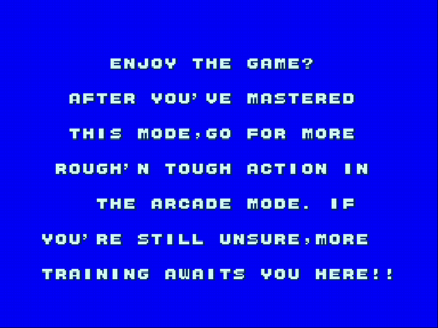Golden Axe - Gameover  - When finishing on practice mode - User Screenshot