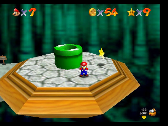 Super Mario 64 - Level Bowser In the Dark World - Reward after getting 8 red coins.Whew! - User Screenshot
