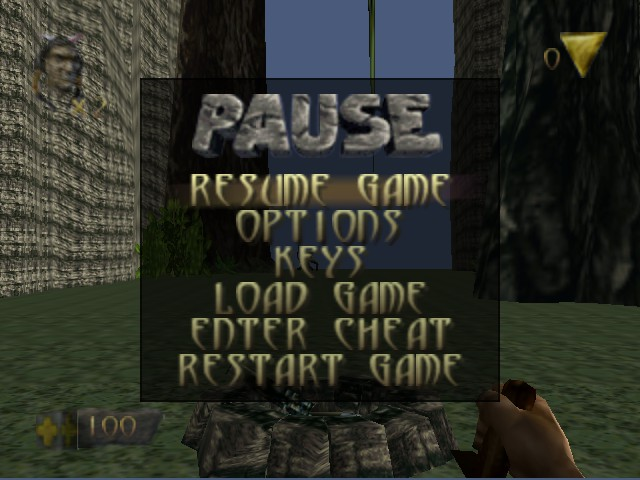 Turok - Dinosaur Hunter - Menus Pause Menu - This is the Pause Menu. - User Screenshot