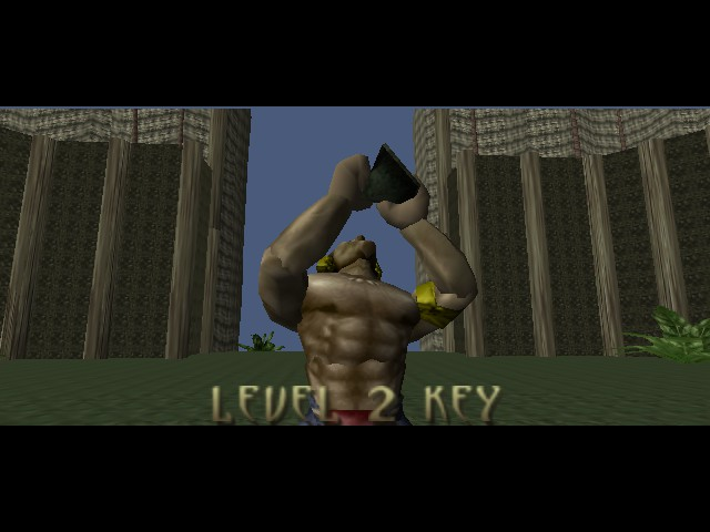 Turok - Dinosaur Hunter - Cut-Scene  - Scene after you acquire a Key. - User Screenshot