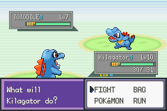 Pokemon Liquid Crytal - Battle  - Uh...Why does my rival have the same mon? - User Screenshot
