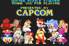 Super Puzzle Fighter II Turbo - Ending  - end of master arcade - User Screenshot