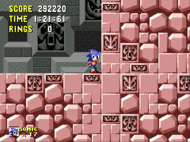 Sonic 1 Megamix - Level  - blocked - User Screenshot