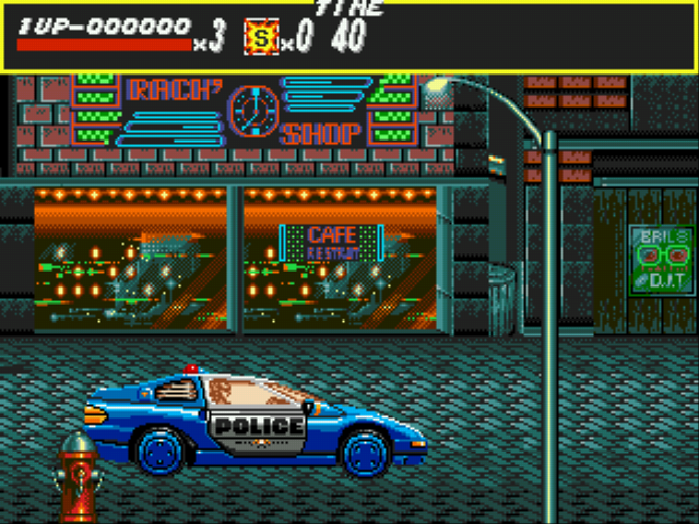 Streets of Rage - Level  - police car - User Screenshot