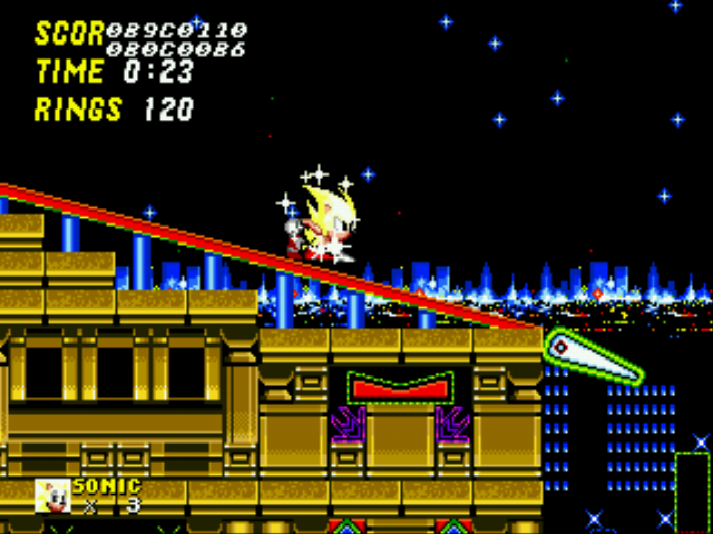 Sonic 2 Long Version - super mystic sonic :D - User Screenshot