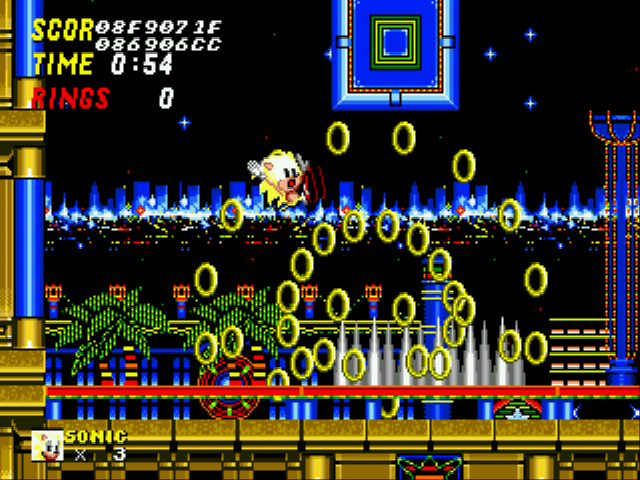Sonic 2 Long Version - Level  - super sonic gets HIT?!?! - User Screenshot