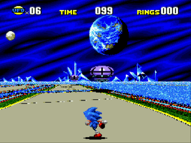 Sonic CD - Level Special Stage - Who says UFOs dont exist? - User Screenshot