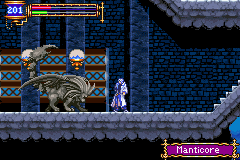 Castlevania - Aria of Sorrow - Battle  - the manticore can be pietrified - User Screenshot