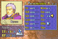 Fire Emblem - Fuuin no Tsurugi (english translation) - OMG marcus your sill alive!!! - User Screenshot