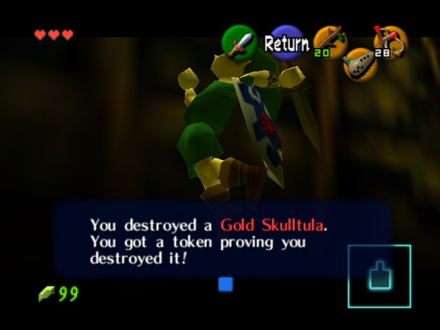 The Legend of Zelda - Ocarina of Time - Cut-Scene  - weird pose there link - User Screenshot