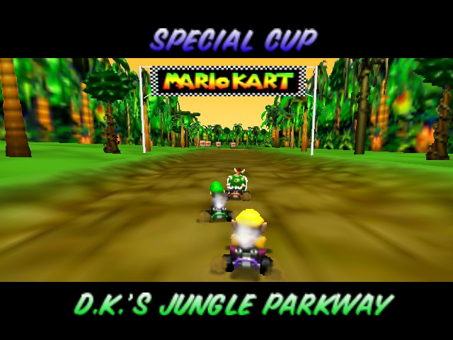 Mario Kart 64 - Level DK Jungle Parkway - OMG SO AWESOME - User Screenshot