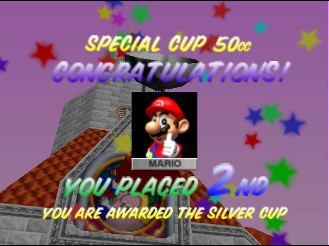 Mario Kart 64 - Ending  - END - User Screenshot