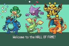 Pokemon Flora Sky - Complement Dex Version - Ending  - My all star team!!! - User Screenshot