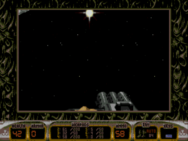 Duke Nukem 3D - Level  - the space - User Screenshot