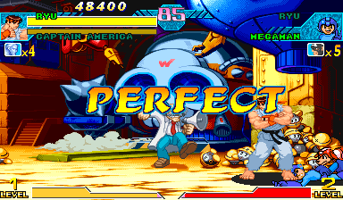 Marvel Vs. Capcom: Clash of Super Heroes (Euro 980123) - Battle  - woot! - User Screenshot