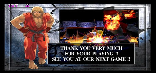 Street Fighter EX 2 Plus (USA 990611) - Ending  - wow all that for nothing sigh - User Screenshot