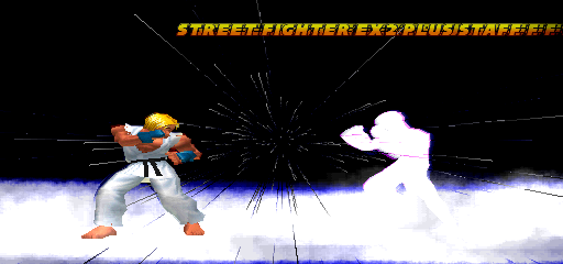 Street Fighter EX 2 Plus (USA 990611) - Level stage 1 - is that supposed to be snow? - User Screenshot