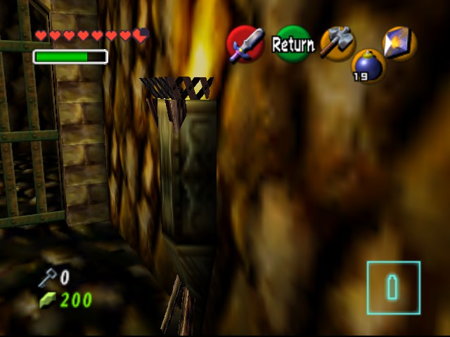 The Legend of Zelda - Ocarina of Time - Master Quest - Level  - Hey torch! I see you! - User Screenshot