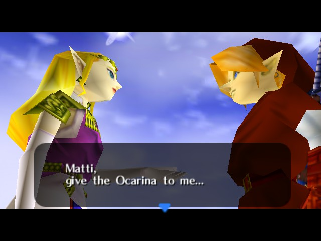Legend of Zelda, The - Ocarina of Time - Battle  - NO!!! - User Screenshot