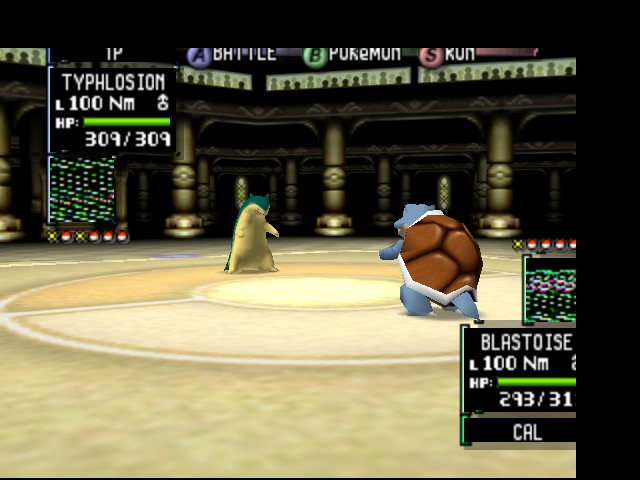 Pokemon Stadium 2 - Battle  - Typhlosion vs Blastoise! - User Screenshot