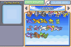Pokemon Rebirth - Character Select  - My new latest Legends - User Screenshot