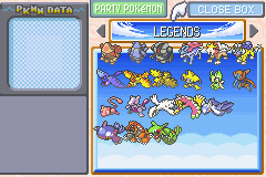 Pokemon Rebirth - Character Select  - Just Missing Latias - User Screenshot