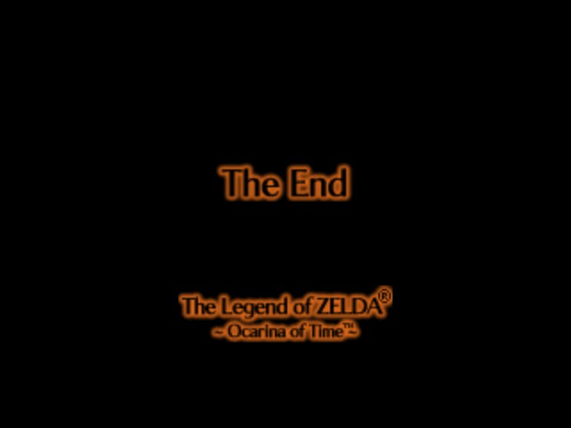 The Legend of Zelda - Ocarina of Time - Ending  - The Best Two Words You Can Read... - User Screenshot