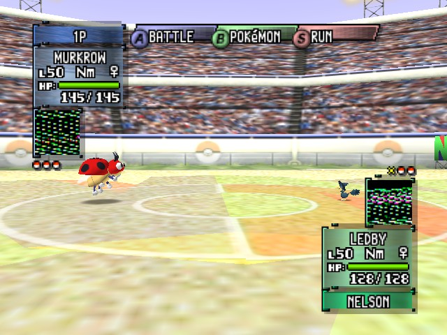 Pokemon Stadium 2 - Battle  - Wow, Murkrow is really small... - User Screenshot