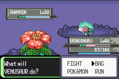 Pokemon Flora Sky - Complement Dex Version - Battle  - is it supposed to be this colour? - User Screenshot