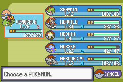 Pokemon Flora Sky - Complement Dex Version - Character Profile Team - my team before the champion - User Screenshot