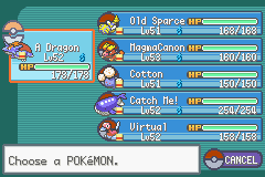 Pokemon Fire Red Omega - Battle  - My team before the champion. - User Screenshot