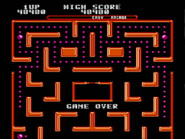Ms Pac-Man - Gameover  -  - User Screenshot