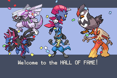 Pokemon - Yet Another Fire Red Hack - Ending  - i win! whoop whoop whoop whoop whoop whoop!!! - User Screenshot